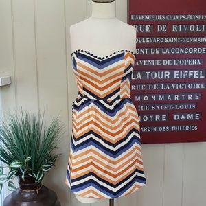 Judith March   S strapless dress w pockets orange